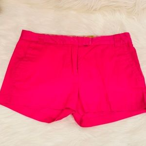 J. Crew pink favorite fit stretch shorts